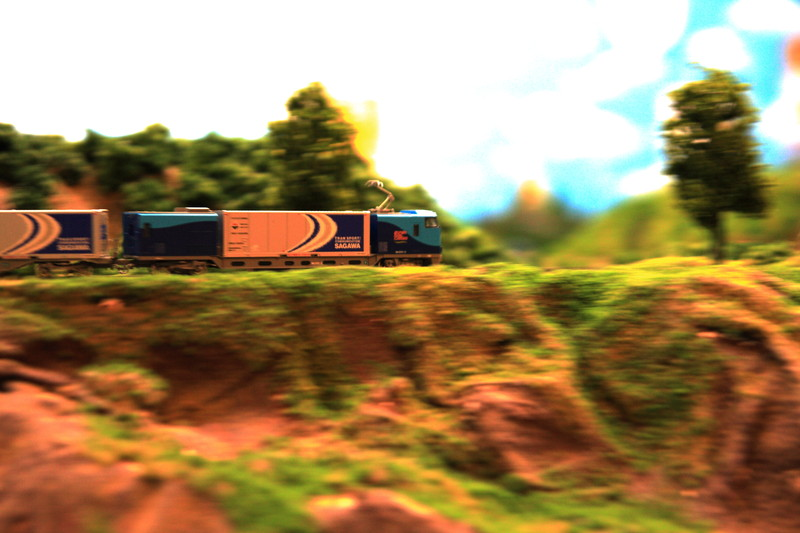 鉄道模型の撮影